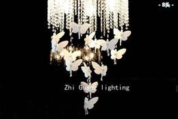 European Round Crystal Lamp Princess Angel Butterfly Chandelier Pendant Lights Lighting For Living Room Ceiling Lamp Bedroom Children's Room