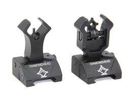 Diamondhead DIAMOND Combat Flip-Up Rear & Front Sight for Picatinny Rail Black Dark Earth