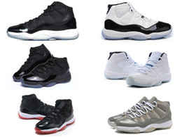 Wholesale retro bred concord Space Jam Legend gamma blue XI men basketball shoes cheap sneakers red black Outdoor sports shoes all sizes