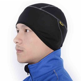 Wholesale-WEST BIKING Winter Outdoor Sports Wear Hiking Skiing Bike Bicycle Cycling Fleece Thermal Windproof Face Mask Hat Male Caps Black