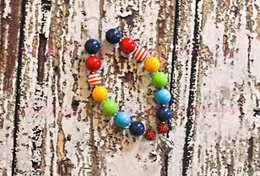 Rainbow Chunky Beaded Necklace..Chunky Necklace..Childrens Necklace..Pearl Necklace..Photo Prop CB138