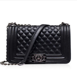Wholesale Famous Designers Quilted Double Flaps Lambskin Shoulder Bags Brand Channelling Bag Handbag Genuine Leather messenger Bag Women