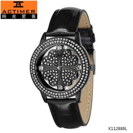 Wholesale Actimer love time off brand Swarovski Luoshi Xing Yun grass series quartz female watch authentic leather waterproof