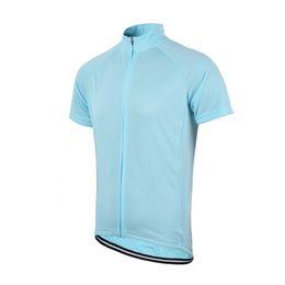 Wholesale-Free Shipping Men's Women's Solid Cycling Short Sleeve Jersey Full Length Zipper Unisex Bike Jersey