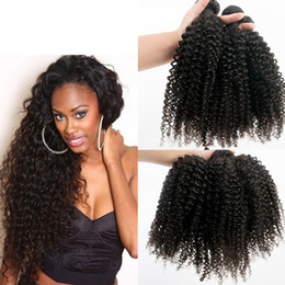 Wholesale Best Selling Afro Kinky Curly Virgin Hair Bundles Virgn Hair Curly Human Hair weft good quality hair weave Fast Shipping