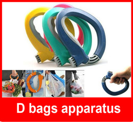 Wholesale Portable Carry Food Machine Handle Carry Bag Hanging Ring Shopping Organizer Q Type D bags apparatus
