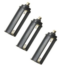 3pcs lot hot sale 3 AAA Battery Black Plastical+Metal Holder Box Case Cylindrical Type For 18650 Flashlight Torch order<$18no track