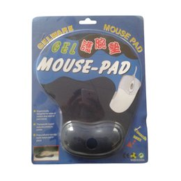 100% Brand Top-Quality Gel Mouse pad with Wrist Rest mat 230*190*19mm Pink,Red,Black,Green,Navy-Blue -Customize Negotiable