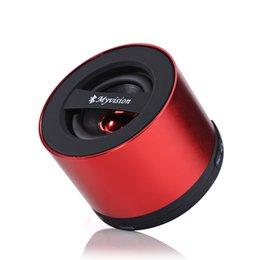 Wholesale 2015 top portable speakers bluetooth media Speaker bluetooth speaker manufacturer My vision round aluminium alloy cell phone speakers