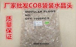 precio de fábrica directo cabeza de cristal ordinario conector de cable de red RJ45 de red COB 1000 / bolsa desde bolsas rojas directas fabricantes