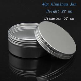 Wholesale Capacity g mm aluminium cream jar aluminum box Can be printed logo