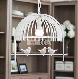 Iron retro living room lights bedroom pendant lamp E27 LED lamps bird creative children chandelier, AC110-240V, LED Bulb free