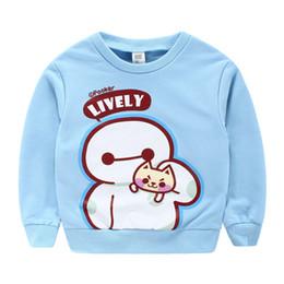 Wholesale Cartoon Head Costume - Autumn Fashion Boys Sweatshirts Cartoon Animal Printed Costume For Children 100% Cotoon Set head Outwear For Kids 4 Lot   Pcs CR145