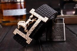 Wholesale Cinturones Hombre Ceinture Mens Belts Luxury New Design Unisex Belt Cinto Masculino Gold Plated Clasp Women Belts Brand Plaid for Men