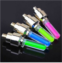 Wholesale 4 colours valve bicycle lights hot wheels mouth light gas since the car accessories B016