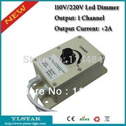 Gros-2015 Livraison gratuite 110V / 220V haute tension 1 canal 2A Led gradateur, Courant sortie 2A, CE et RoHS, 2 ans de garantie à partir de haute tension gradateur fournisseurs