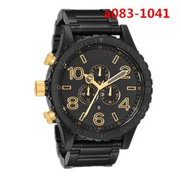 Wholesale Freeshipping Quartz Mens Watches a083 High Quality Waterproof Chronograph Black Luxury Wristwatches a0831041 with Original Box