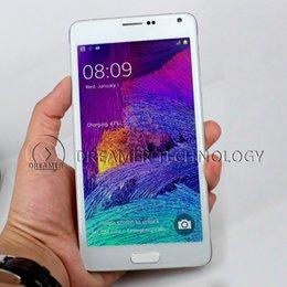 Wholesale N4 Unlock Phone N9100 N Inch MTK6572 Dual Core HD Screen Resolution Smart Phone Dual Camera GSM G Smart Remote DHL