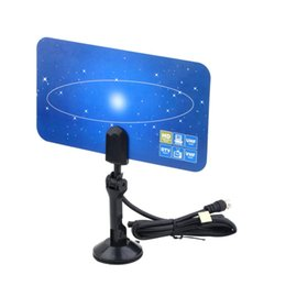 Wholesale Digital Indoor TV Antenna HDTV DTV Box Ready HD VHF UHF Flat Design High Gain Jumping