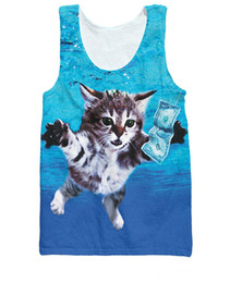 Sport Fashion Summer Style Vest Animal kitty Cat Cobain Tank Top Kurt Cobain's Nirvana Basketball Jersey Shirts For Women Men