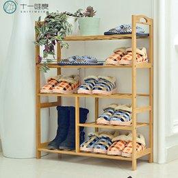 Wholesale Shoes Hanger Diy - Solid wood DIY shoe hangers multi-layer simple shoe wooden shoes racks storage shelves free shipping