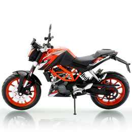 Wholesale New Arrival Alloy ABS Super Motorcycle Model for KTM DUKE Best of Packing Box as Toy Gift and collections