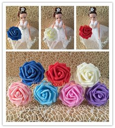 8CM 100PCS 8color available flower arch Wedding bouquet artificial rose silk fake flower PE foam wedding car decor
