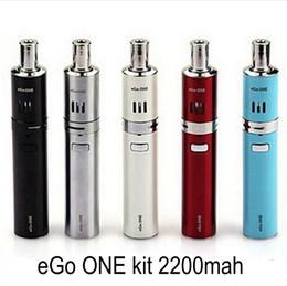 Promotion bleu argent eGo ONE électronique 2200mah de kit de cigarette Batterie air réglable Expédition Noir Argent Blanc Rouge Bleu gratuit