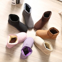 Wholesale 2015 fashion women winter snow boots Australia Classic fur bow boots platform ladies ankle boots female cotton shoes suede leather oxford