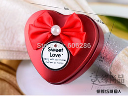 Free shipping 200pcs lot Tinplate Heart Shaped Candy tin Box with bow-knot wedding gifts box