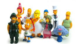 Wholesale The Simpsons figures pvc cm Car Furniture Collection Figure Toy decoration Xmas babys gifts set