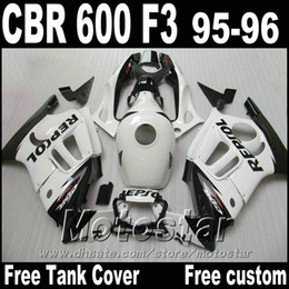 Motorcycle fairings set for HONDA 1995 1996 CBR600 F3 CBR 600 95 96 white black REPSOL high grade fairing kit ZB71