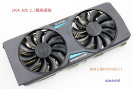 New Original for EVGA GTX970 ACX 2.0 four heat pipe cooling system graphics card cooler fan with heat sink
