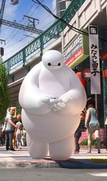 Wholesale 2015 newest styles real images suit Big Hero Baymax Mascot Costume Cartoon Adult Size EMS