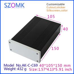 1 pcs, szomk aluminum housing extruded box 40*105*150mm new arrival shenzhen audio amplifier enclosure, junction box