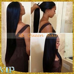 Wholesale NEW Unprocessed Brazilian Glueless Front Lace Wigs With Baby Hair Long Straight Full Lace Human Hair Wigs For Black Women