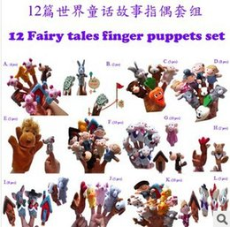 Wholesale Preschool plush doll refers to the fairy tale world in English even hand puppet kits