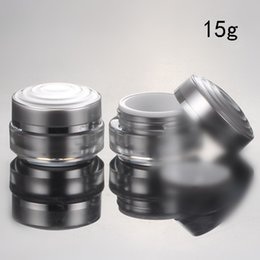 Wholesale DHL Top Grade g Round Silver Acrylic Jar Cream Jar for Cosmetic Packaging