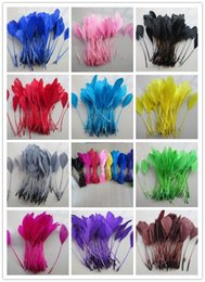 wholesale 500 PCS beautiful 10-15 cm   4-6 inches goose feathers crafts white,black,red,grren.lake blue,yellow,Deep blue,Rose