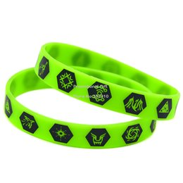 Wholesale New Arrival 100PCS Lot Printed EXO Member Logo Cheap Silicone Wristband Bracelet for Music Fans