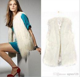 2017 women s faux fur vest New Fashion Women # 039; s de Outono e Inverno Suit Curto Luxurious Faux Fur Vest Shawl Jacket para Mulheres novos chegar !! transporte dorp à venda women s faux fur vest