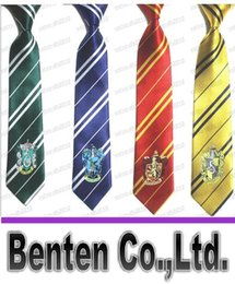 Wholesale Harry Potter Slytherin Hufflepuff tie Gryffindor Ravenclaw with badge LLFA4480F