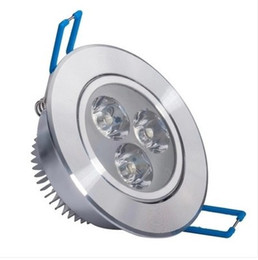 Hot Recessed LED Downlight 3W Dimmable Ceiling lamp AC85-265V White Warm white LED Down Lamp Aluminum Heat Sink