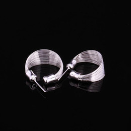 Global Hot 925 sterling silver stud earrings multi-line fashion classic jewelry wedding gift for woman factory price free shipping