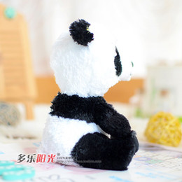 Wholesale-Original TY Beanie Boos Panda 15cm Soft Stuffed Plush Doll Baby Toy Animal Cartoon Gift