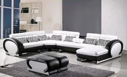 Wholesale L Shaped Sofa Genuine Leather Corner sofa with Ottoman Chaise Lounge sofa Set Low Price Settee Living Room Sofa Furniture