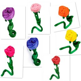 Wholesale Bendable Plush Rose Curtain Buckle Home Decors