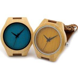 Wholesale Blue Yellow Painted Handmade Craft Men s Wood Wristwatches Men s Luxulry Dress Watches Japanses Movement Quartz Wood Watches