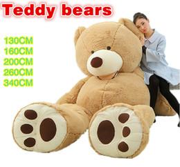 2,015 TEDDY ours en peluche MARRON CLAIR GIANT JUMBO 130cm 160cm 200cm 260cm 340cm enfants de cadeau d'anniversaire anniversaire jouet DHL Fedex livraison gratuite à partir de géant ours brun stuff toy fournisseurs