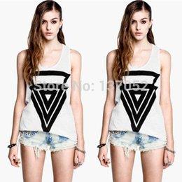 2016 new Fashion Womens print T-shirt white summer casual slim sleeveless shirts tops plus size
